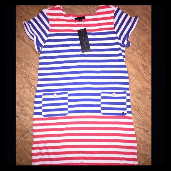 db75aaa6 Tommy Hilfiger Dresses | Nwt Girls Cotton Dress Sz 16 Xl | Poshmark
